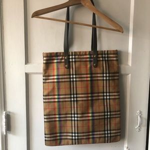 Burberry Bags - Burberry • Rainbow Vintage Check Shopper Tote Bag
